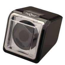 Load image into Gallery viewer, Diplomat Single Watch Winder and Smart Internal Bi-Directional Timer Control, Black Finish with Chrome Accents