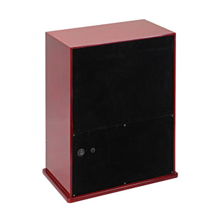 Diplomat Nine Watch Winder 10 Watch Storage Choose from Three Wood Finishes. Locking Glass Door and Smart Internal Bi-Directional Timer Control