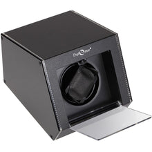 Load image into Gallery viewer, Diplomat Single Illuminum Watch Winder Choose Color AC Adapter or Two C Batteries. Expandable Smart Internal Bi-Directional Timer Control Touch Sensor Display, LED Lit Aluminum Exterior