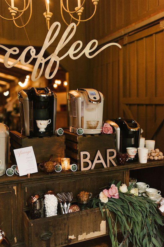 winter wedding bar ideas