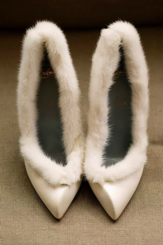 winter bride shoes