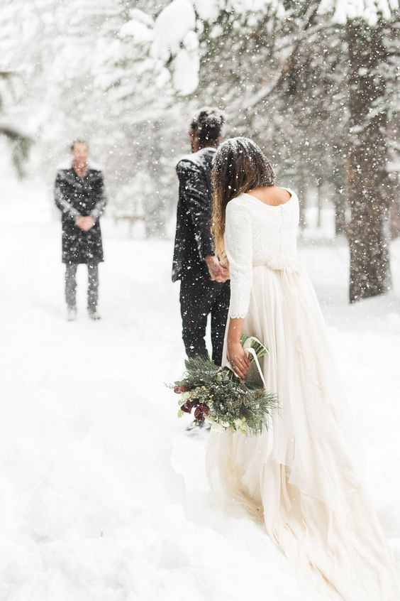 wedding in the snow