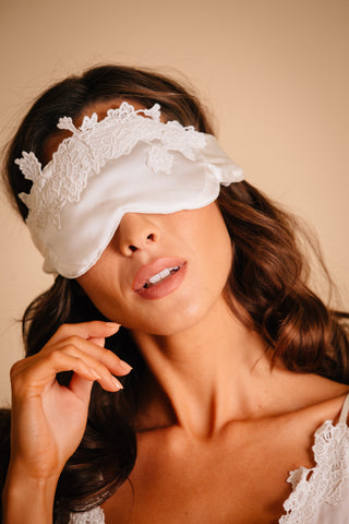 white sleep mask