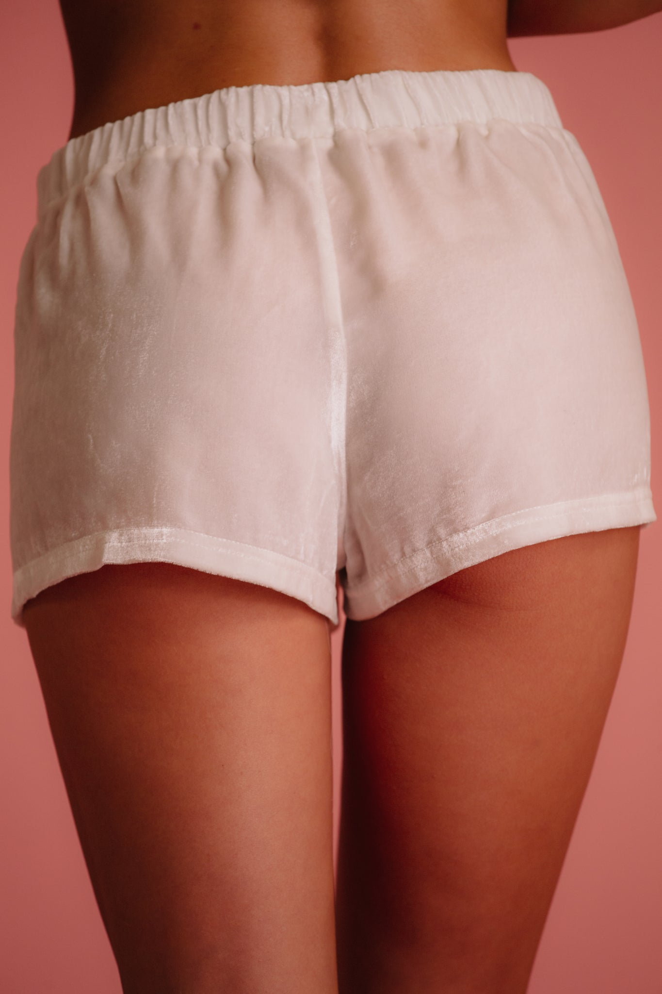 White pajama short for wedding day