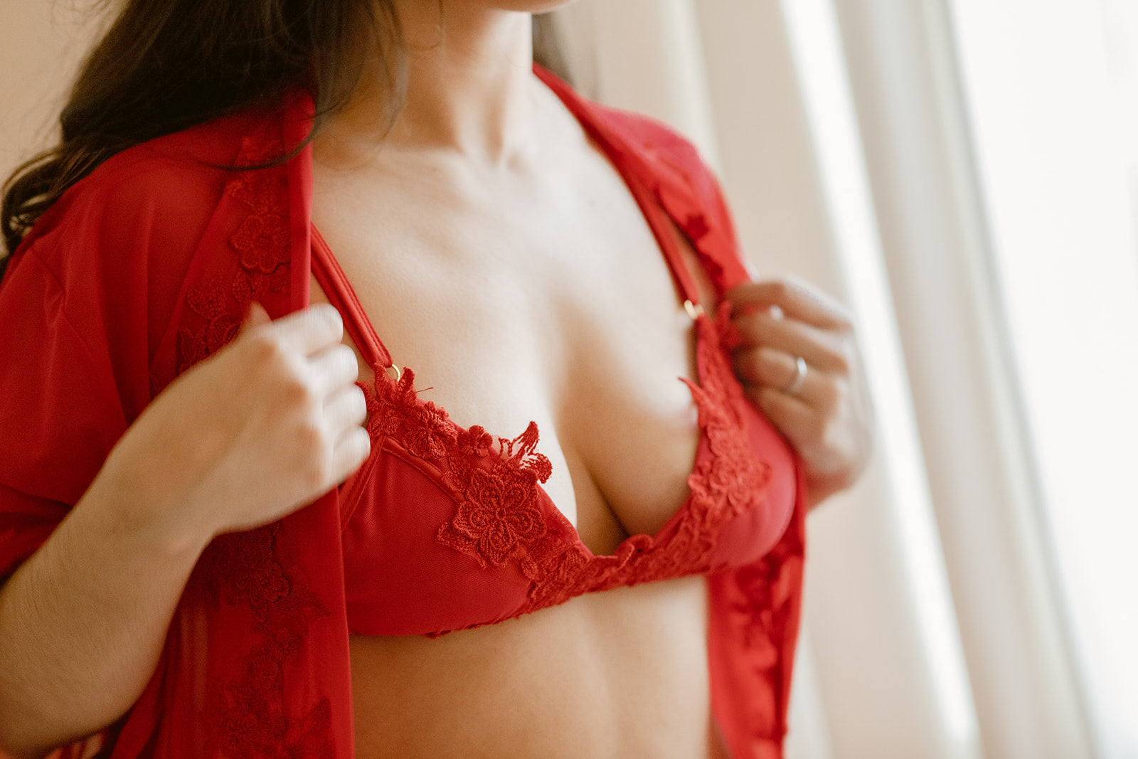 red lingerie sets for gift