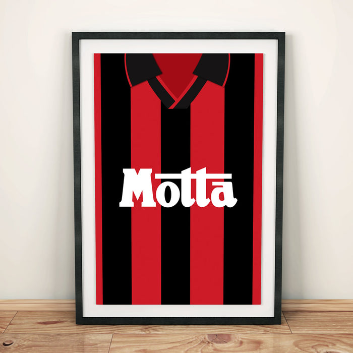 AC Milan 1993 Football Shirt Art Print