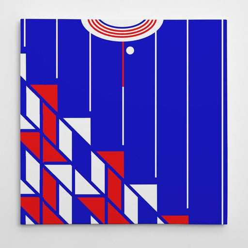 Ajax 1990 Away Football Canvas Print