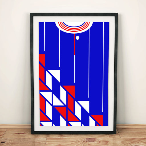 Ajax 1990 Away Football Shirt Art Print