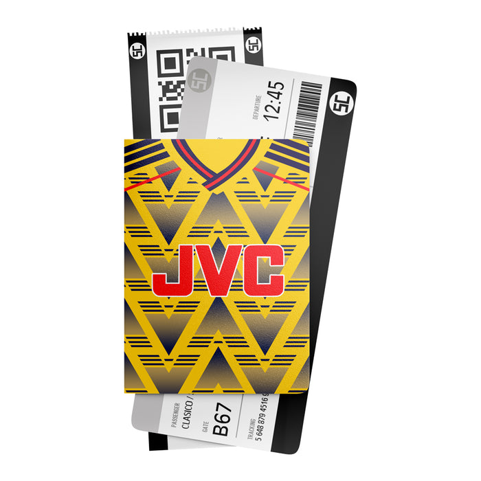 Arsenal 1991 Away Retro Passport Holder