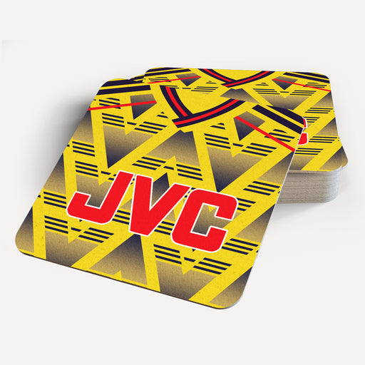 Arsenal Away Retro Coaster - Soccer Clasico