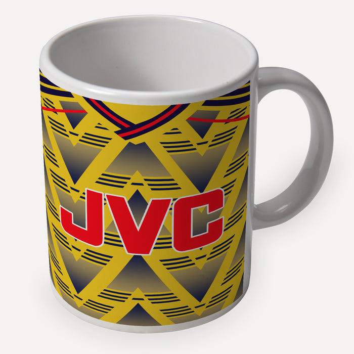 Arsenal 1991 Away Retro Ceramic Mug