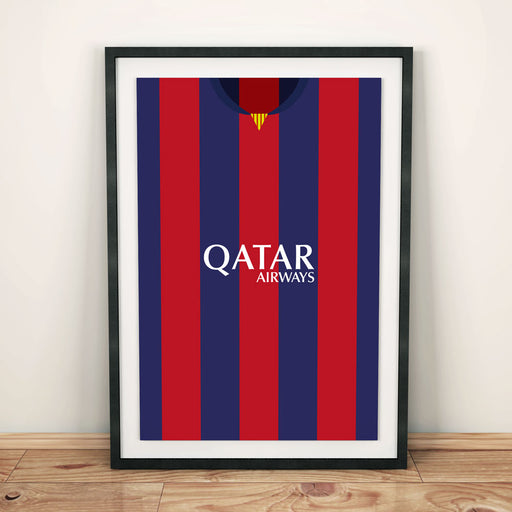 Barcelona 14/15 Football Shirt Art Print