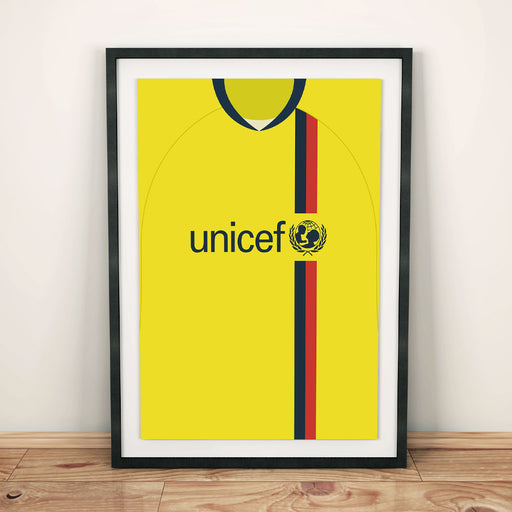 Barcelona 08/09 Away Football Shirt Art Print