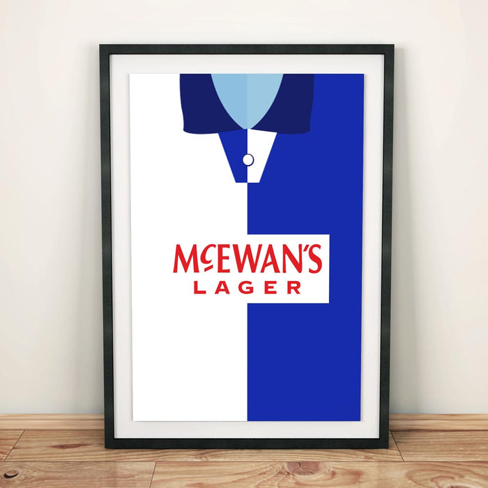 Blackburn Retro Football Shirt Art Print