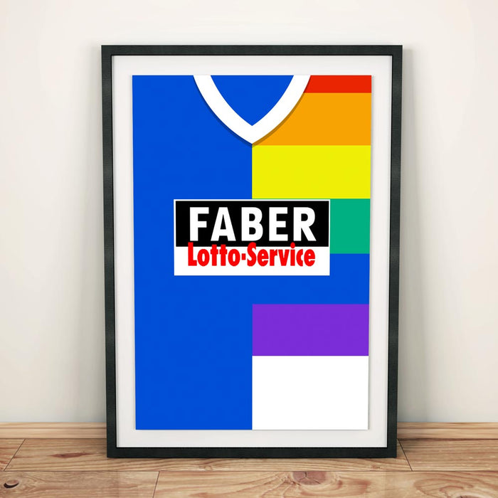 Bochum 1997 Football Shirt Art Print