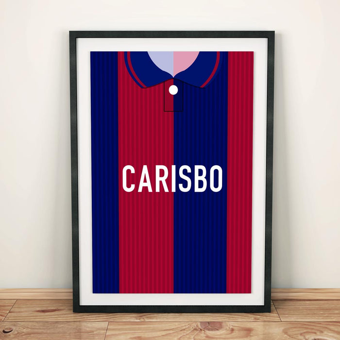 Bologna 1995 Football Shirt Art Print