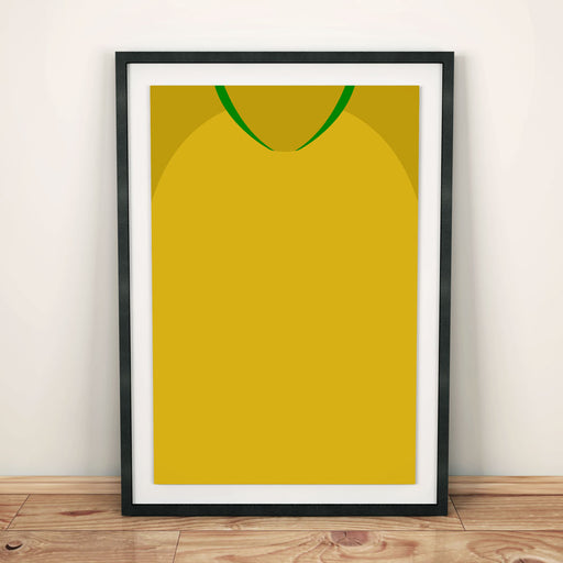 Brazil 2018 Football Shirt Art Print