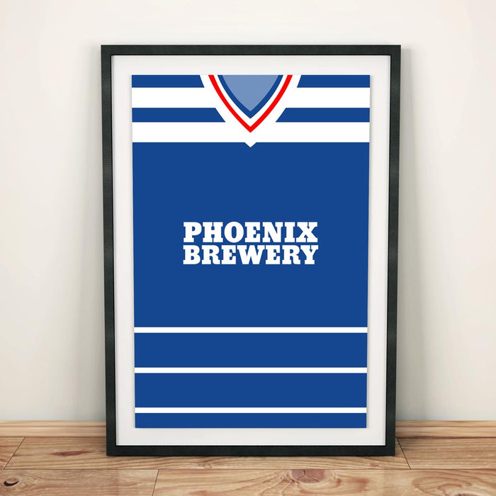 Brighton 1985 Football Shirt Art Print