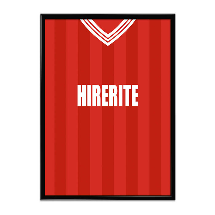 Bristol City 1983-86 Football Shirt Art Print