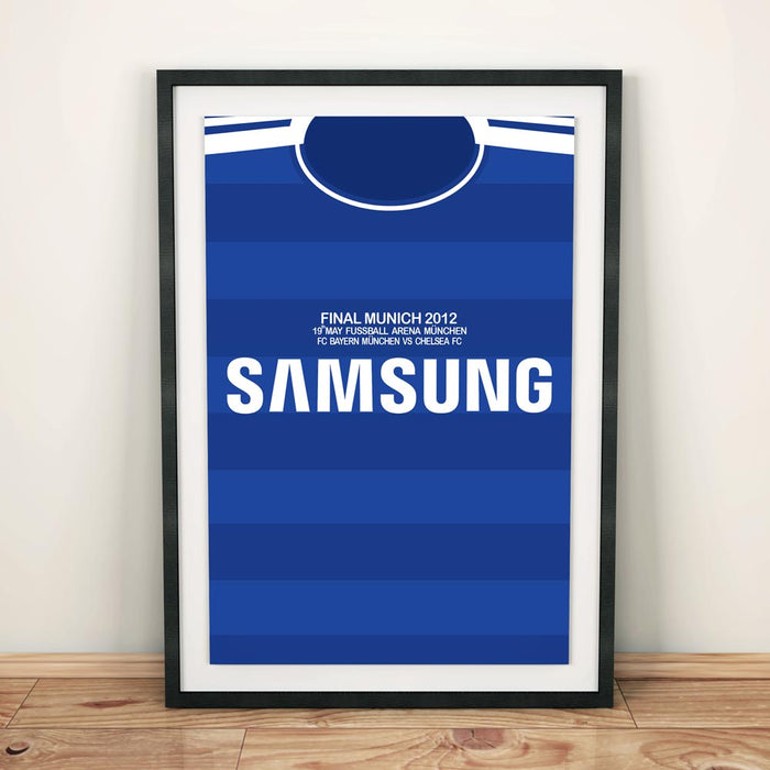 Chelsea 2012 Football Shirt Art Print