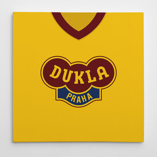 Dukla Prague Retro Football Canvas Print