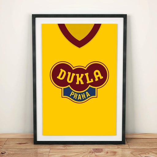 Dukla Prague Retro Football Shirt Art Print