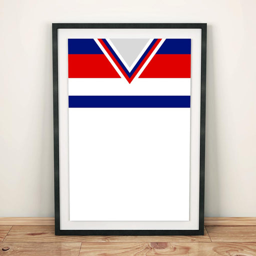 England 1982 Football Shirt Art Print