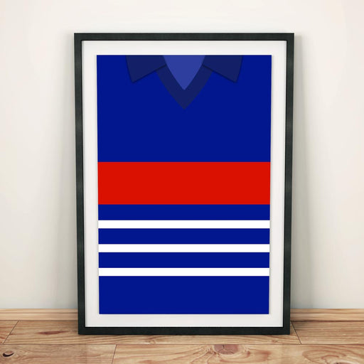 France 1984 Football Shirt Art Print
