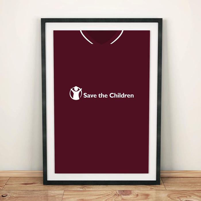 Hearts 18/19 Football Shirt Art Print