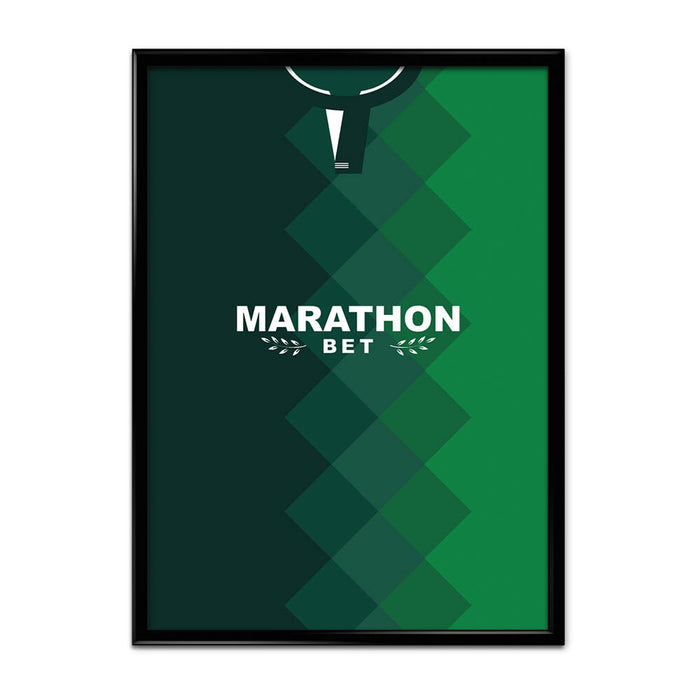 Hibs 18/19 Football Shirt Art Print