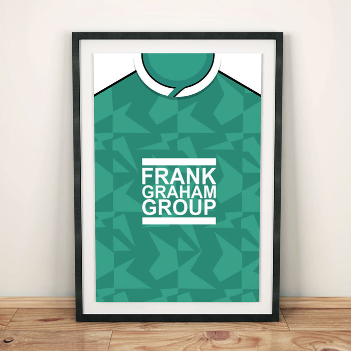 Hibs 1989 Football Shirt Art Print