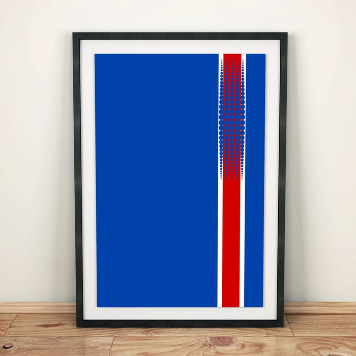 Iceland 2016 Football Shirt Art Print