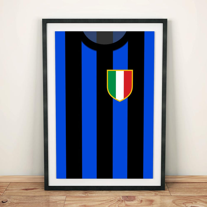Inter Milan 1994 Football Shirt Art Print