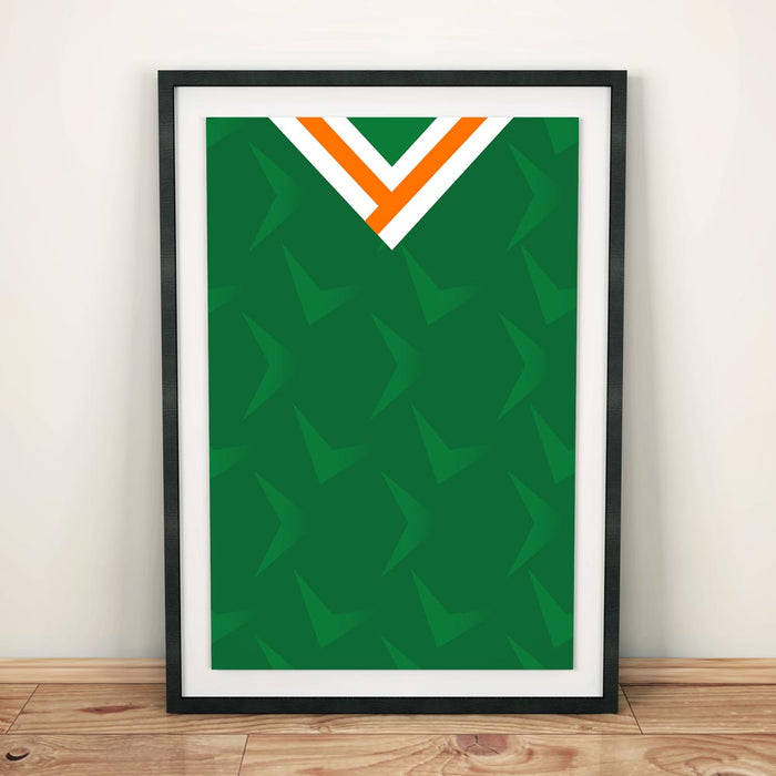 Ireland 1990 Football Shirt Art Print