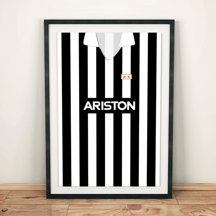 Juventus 1988-89 Football Shirt Art Print