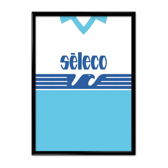 Lazio 1992 Football Shirt Art Print
