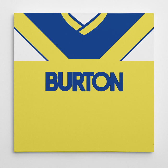 Leeds United 1986-88 Away Football Canvas Print
