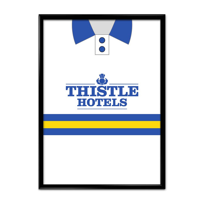 Leeds United 1993-95 Football Shirt Art Print
