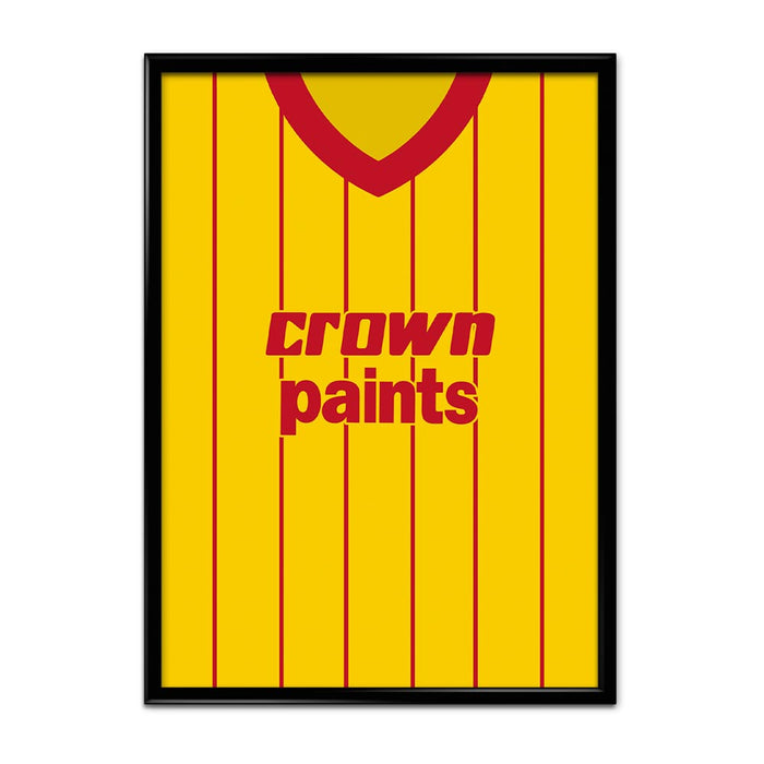 Liverpool 1982 Away Football Shirt Art Print
