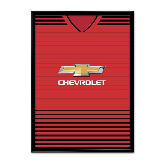 Manchester United 18/19 Football Shirt Art Print