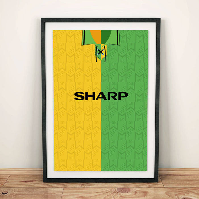 Manchester United 1992-94 Away Football Shirt Art Print