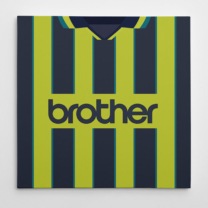 Manchester City 1999 Away Football Canvas Print