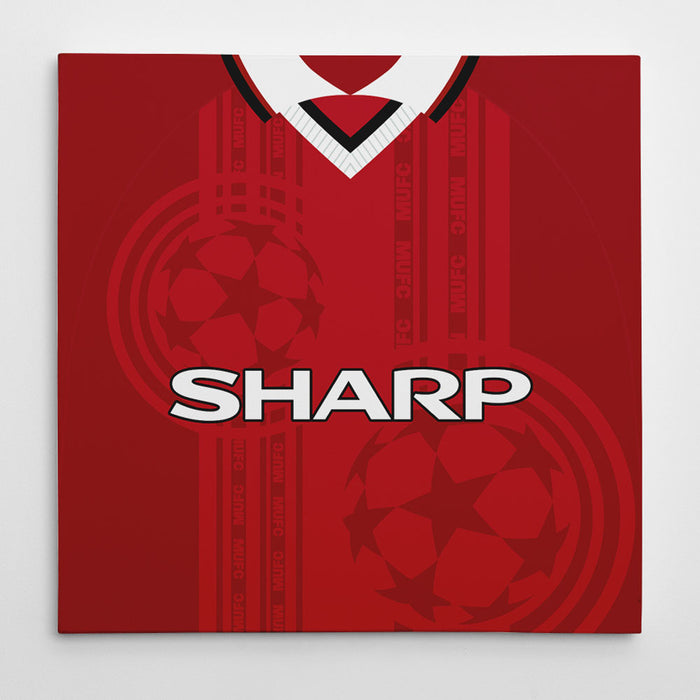 Manchester United 97-00 Football Canvas Print