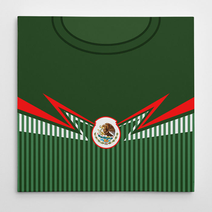 Mexico Retro Football Canvas Print