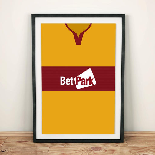 Motherwell 2018-19 Football Shirt Art Print