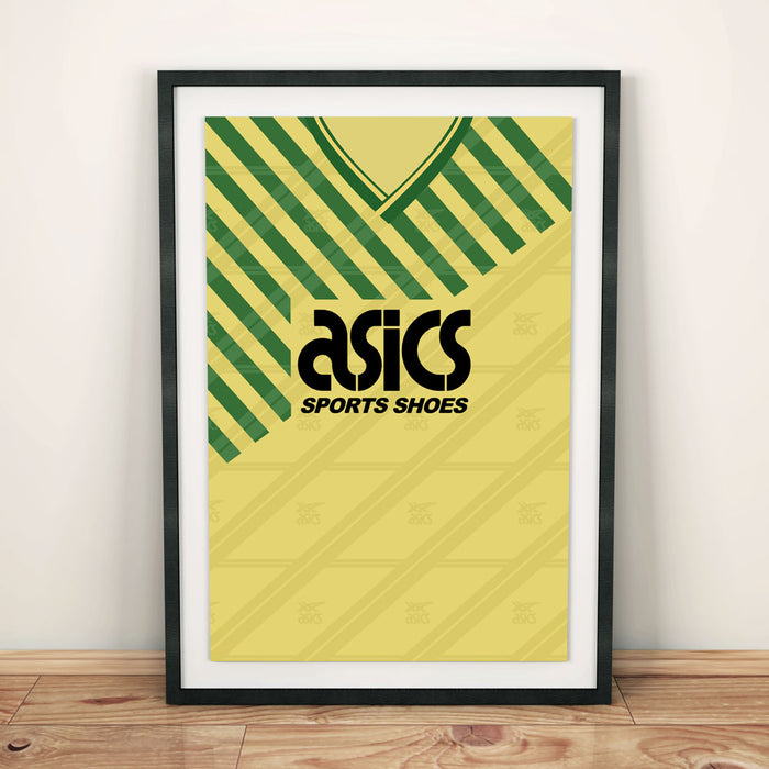 Norwich City 89-92 Football Shirt Art Print