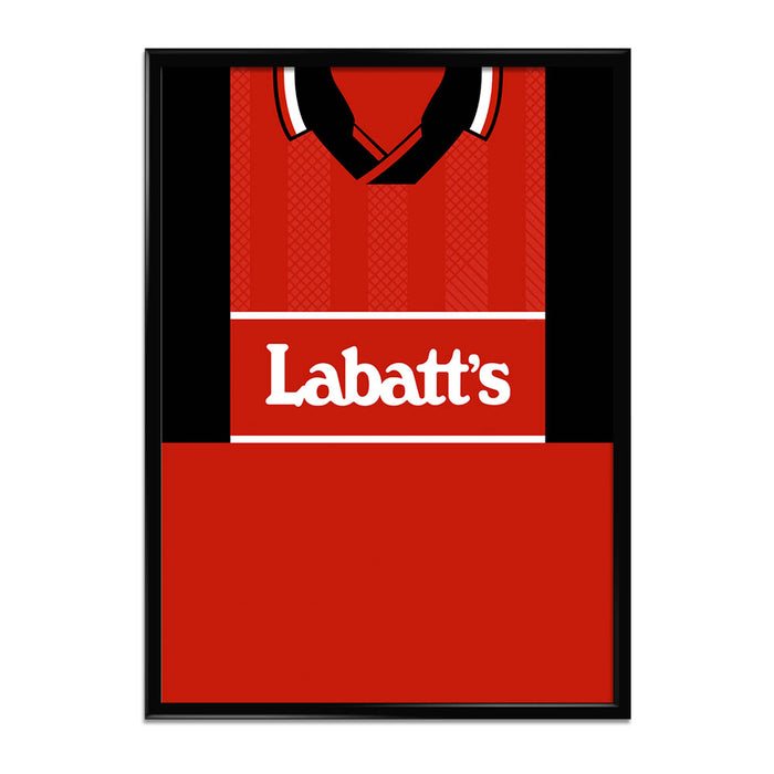 Nottingham Forrest 94/96 Football Shirt Art Print