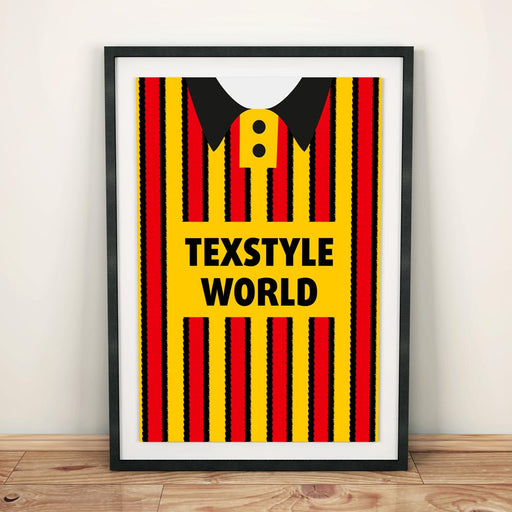Partick Thistle 1994 Football Shirt Art Print