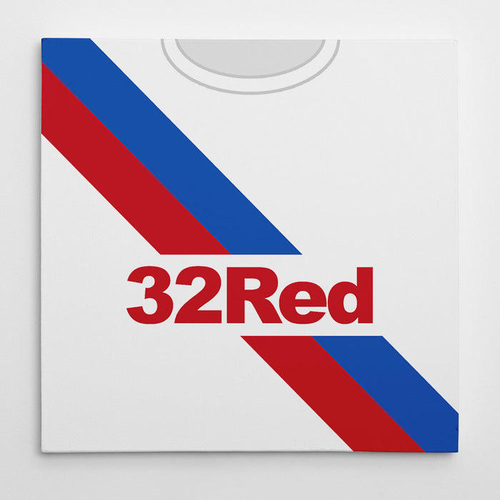 Rangers 18-19 Away Football Canvas Print