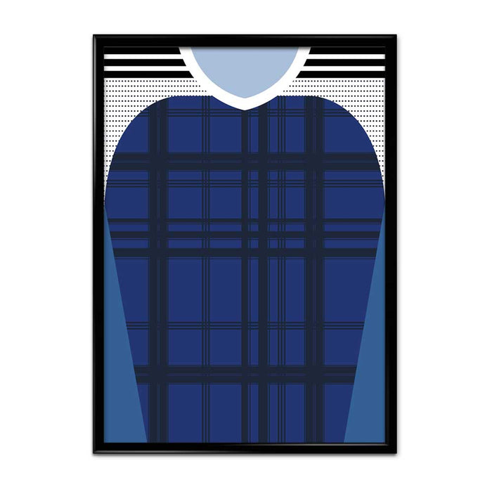 Scotland 16-17 Football Shirt Art Print